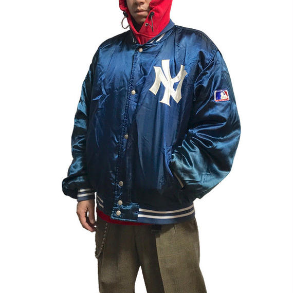 【USED】80'S-90'S NEW YORK YANKEES NYLON VIRSITY JACKET