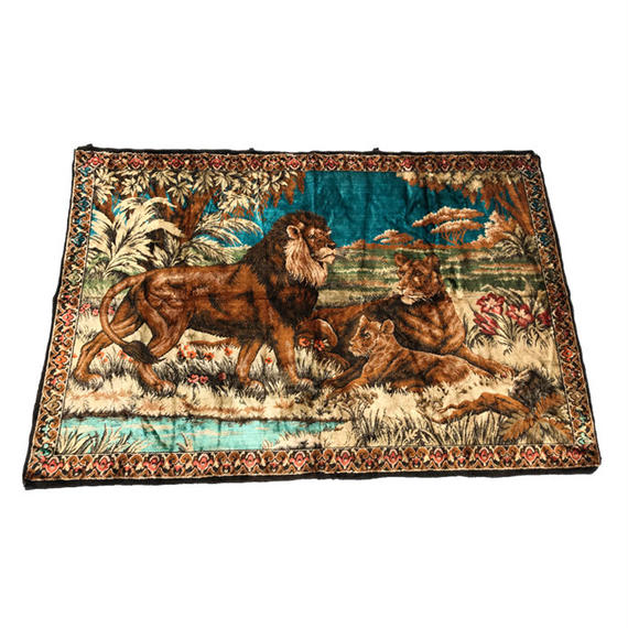 【USED】70'S MOROCCAN LION WALL TAPESTRY