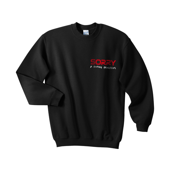 SORRY Credit card Sweat shirts  / Black