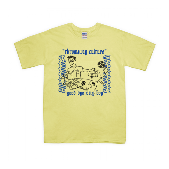 Throwaway culture - We are city boys Tee  / Light Yellow