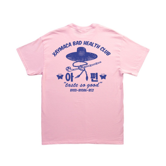 Xaymaca Bad health club - Dandong stuff Tee / LIGHT PINK