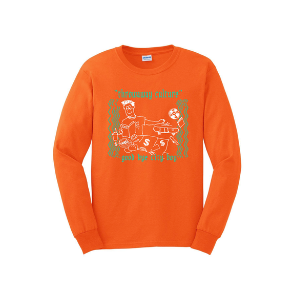 Throwaway culture - We are city boys Long Tee  /Orange