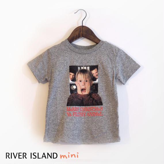 River Island|ホームアローンクリスマスTシャツ-グレー