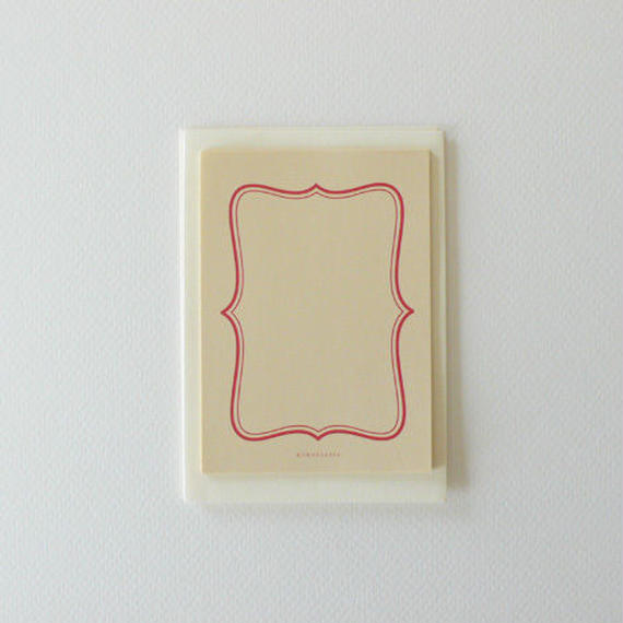 豆便 frame red