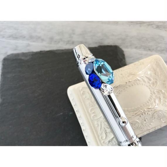 【S様オーダー品】スワロフスキービジューデコボールペン