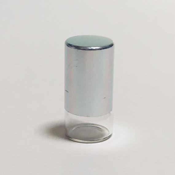 クリアガラスロールオンボトル(シルバーキャップ)5個セット (1ml)
