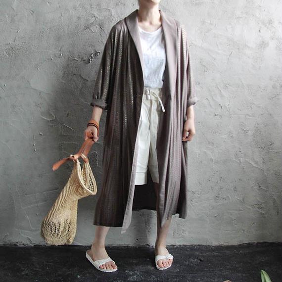 Tabrik foil Print robe