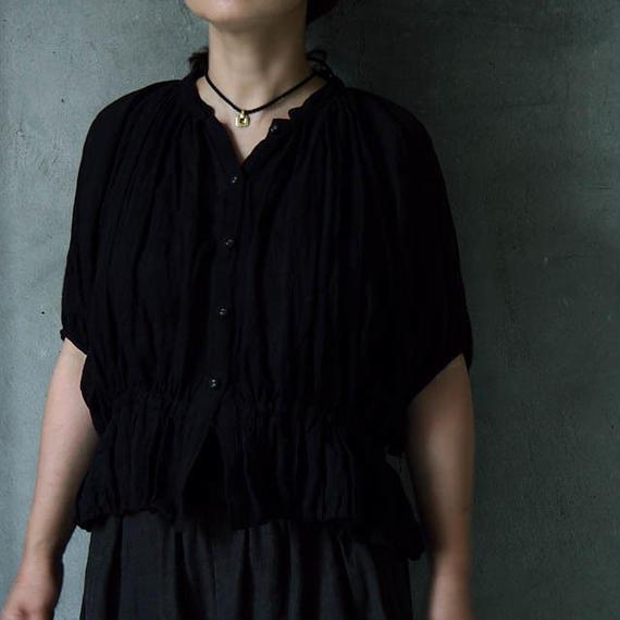 Tabrik linen blouse black
