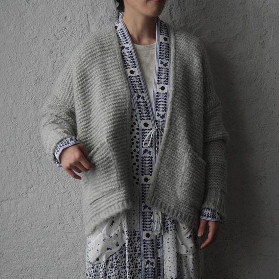 MAISON ANJE knit cardigan glay