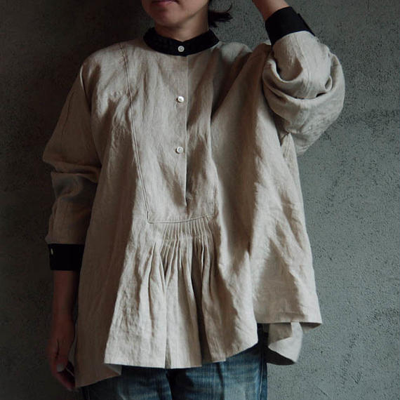 TOWAVASE Jardin linen shirt