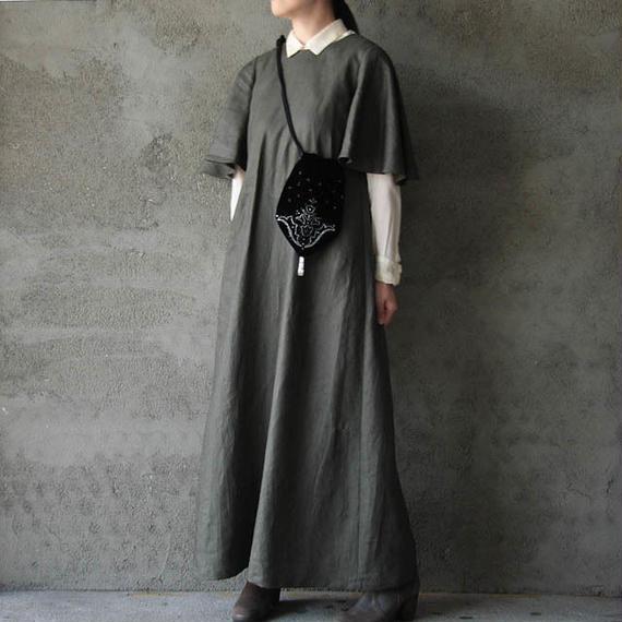 NOTA bell sleeve dress + purse  khaki