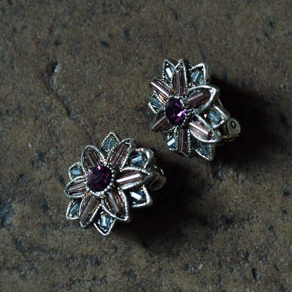 france dead stock earrings flower