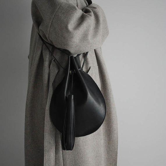 chiihao   round pochette large black