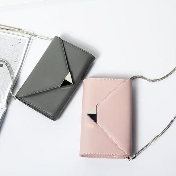 wallet-02025 エンブローブデザイン お財布ポシェット クラッチバッグ