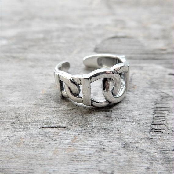 ring-02152 送料無料!SV925 留め具デザイン シルバーリング 幅最大10mm 8号から上にサイズ調整可能