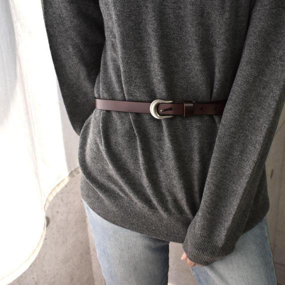 belt-02027 送料無料! 本革 バックルレザーベルト レッドブラウン ブラウン