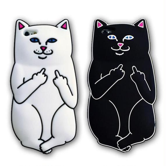 iphone-02048 送料無料! キャット 猫 ホワイト ブラック iPhoneケース