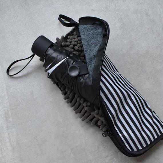 raingoods-02015 送料無料! マイクロファイバー ストライプ柄 折り畳み傘ケース 吸水カバー