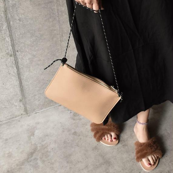 bag2-02399 フェイクレザー サコッシュ アウトドアロープショルダーバッグ☆WA04