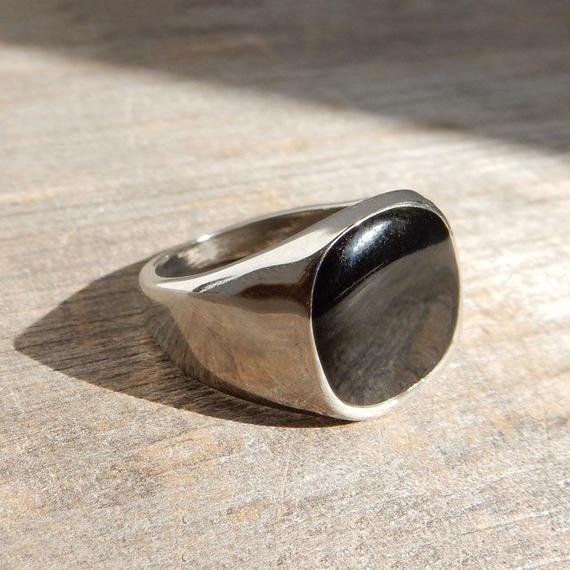 ring2-02012 送料無料! ブラックエポリング シルバー 15号
