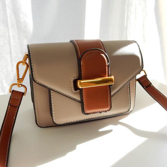 bag2-02297 タイプ1 ベルトデザイン 多重ポケットバッグ ショルダーバッグ