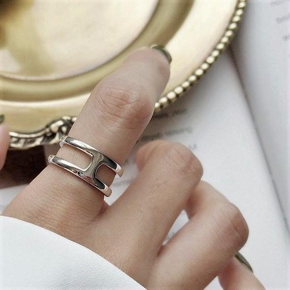 ring2-02065 送料無料! SV925 センターバーリング シルバー925