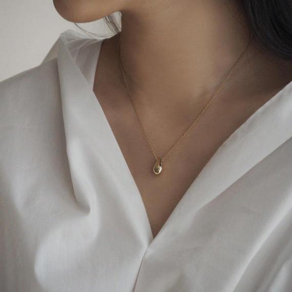 necklace2-02002 送料無料! SV925 ドロップトップ ネックレス ゴールド