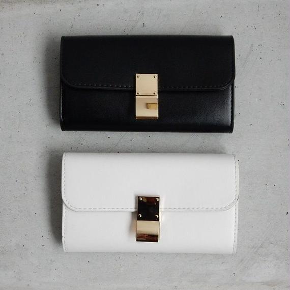 wallet-02028 ゴールド留め具 お財布ポシェット クラッチバッグ
