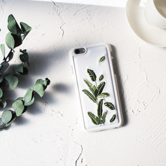 iphone-02408 送料無料! リーフ 刺繍 iPhoneケース
