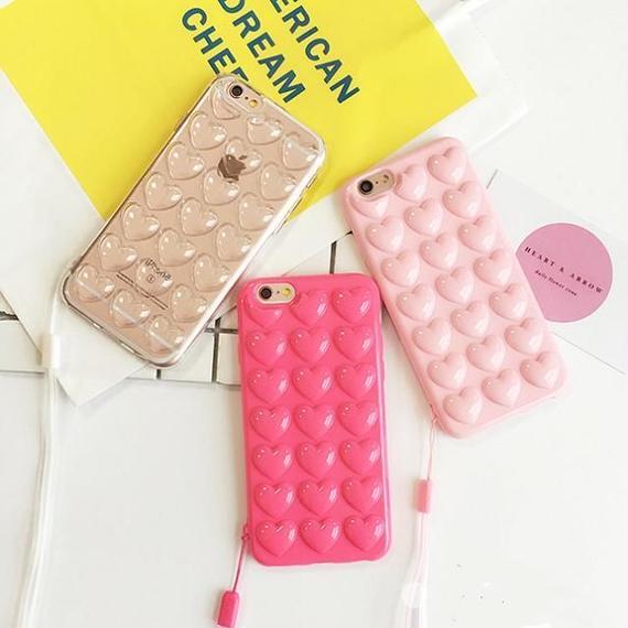 iphone-02155 送料無料! プチプチハート  iPhoneケース