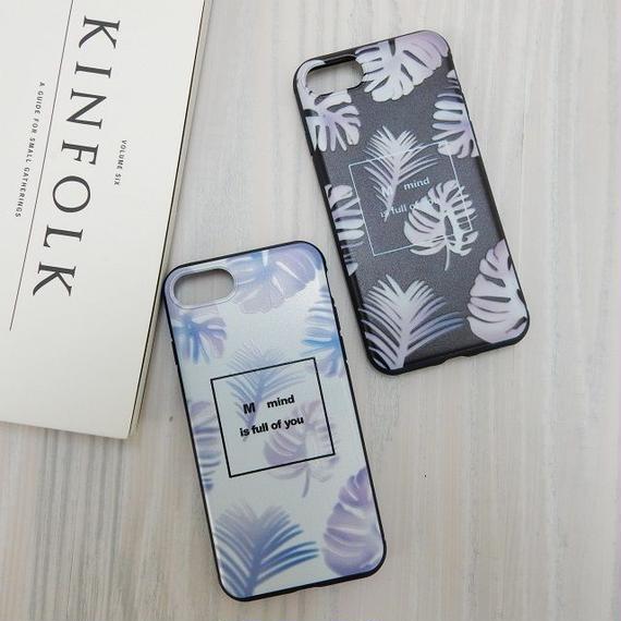 iphone-02237 送料無料! リゾート風 リーフ iPhoneケース