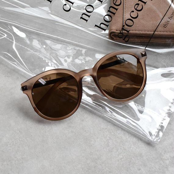 sunglasses-02034 マットブラウンクリアフレーム サングラス