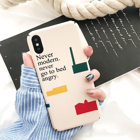 iphone-02454 送料無料! Never moden,never go to bed angry. iPhoneケース