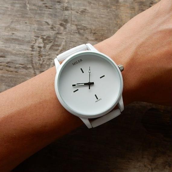 watche-02016 送料無料! ビッグフェイス シリコンベルトウォッチ 腕時計 電池内臓済み 男女兼用サイズ