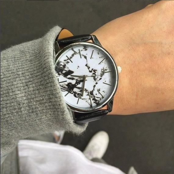 watche-02003 送料無料! 大理石柄ウォッチ マーブル柄 腕時計 電池内臓済み 男女兼用サイズ