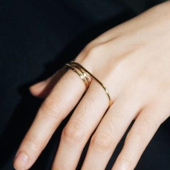 ring-02049 送料無料! ツーフィンガーリング 11号(3重になっている方)と14号