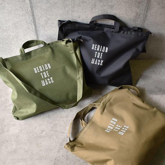 bag2-02396 ロゴビッグトートバッグ ハンドバッグ カーキ ブラック ベージュ