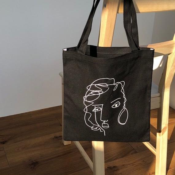 bag2-02310 送料無料! タイプ2 フェイス モダンアート トートバッグ エコバッグ