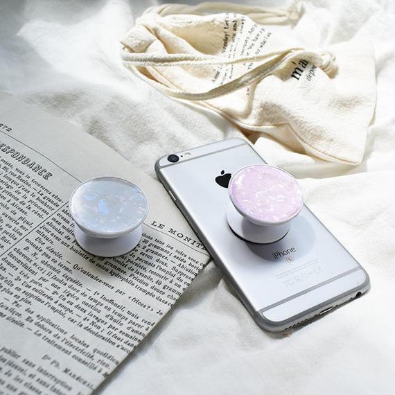 iphone-02473  送料無料!シェルデザイン バンカーグリップ ジョイソケッツ ジョイグリップ 落下防止パーツ