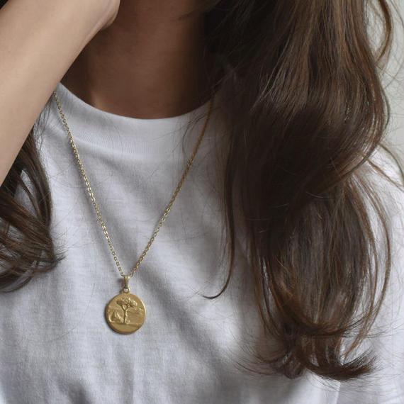 necklace2-02005 送料無料! マットゴールド コインネックレス ☆WA04