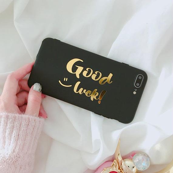 iphone-02427 送料無料! GOOD LUCK! スマイル iPhoneケース
