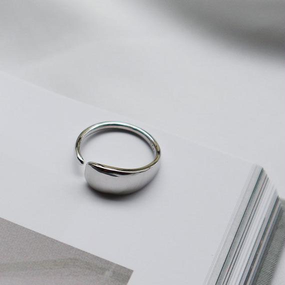 ring2-02040 送料無料! SV925 スムースペタルリング シルバー925