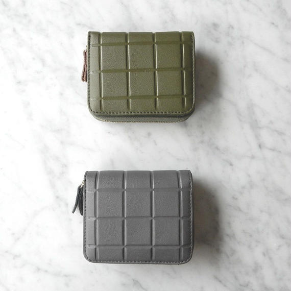 wallet-02020 本革レザー 型押しデザイン ミニ財布 小銭入れ付き 二つ折り ミニウォレット