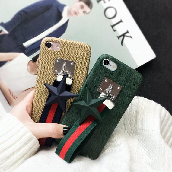 iphone-02302 送料無料! スター&ストラップ付き iPhoneケース