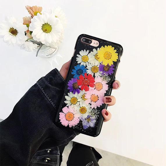 iphone-02456 送料無料! 押し花 フラワー iPhoneケース