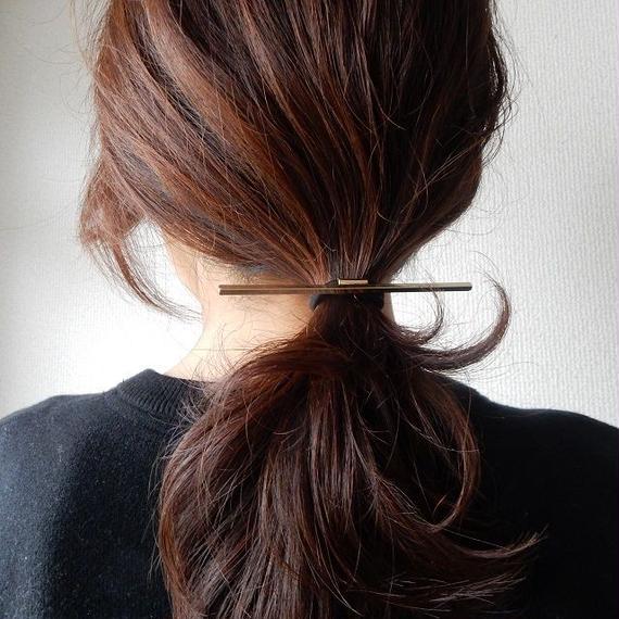hair-02185 送料無料! バーヘアゴム ヘアポニー ゴールド シルバー マジェステ風ヘア作りに!