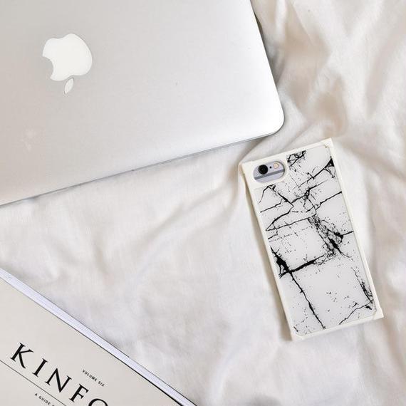 iphone-02451 送料無料! タイプ2 スクエアバンパー 大理石柄 iPhoneケース