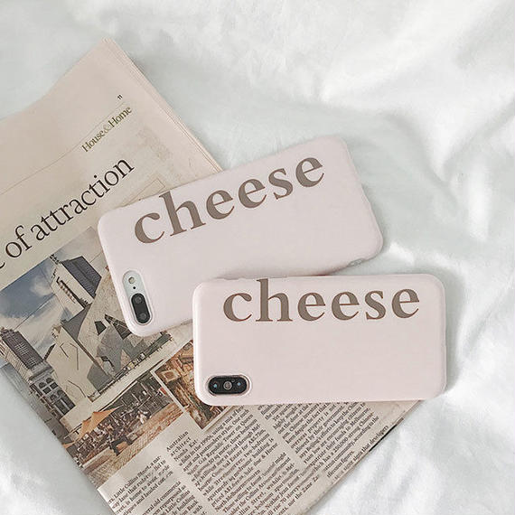 iphone-02485 送料無料!cheese ピンク iPhoneケース
