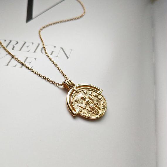 necklace2-02010 送料無料! SV925 タイプ3 コインチャームネックレス