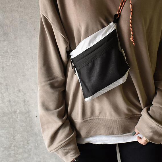 bag2-02406 送料無料! メッシュポケット ナイロンサコッシュ